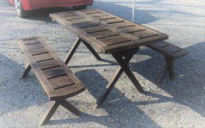 木製テーブルセット